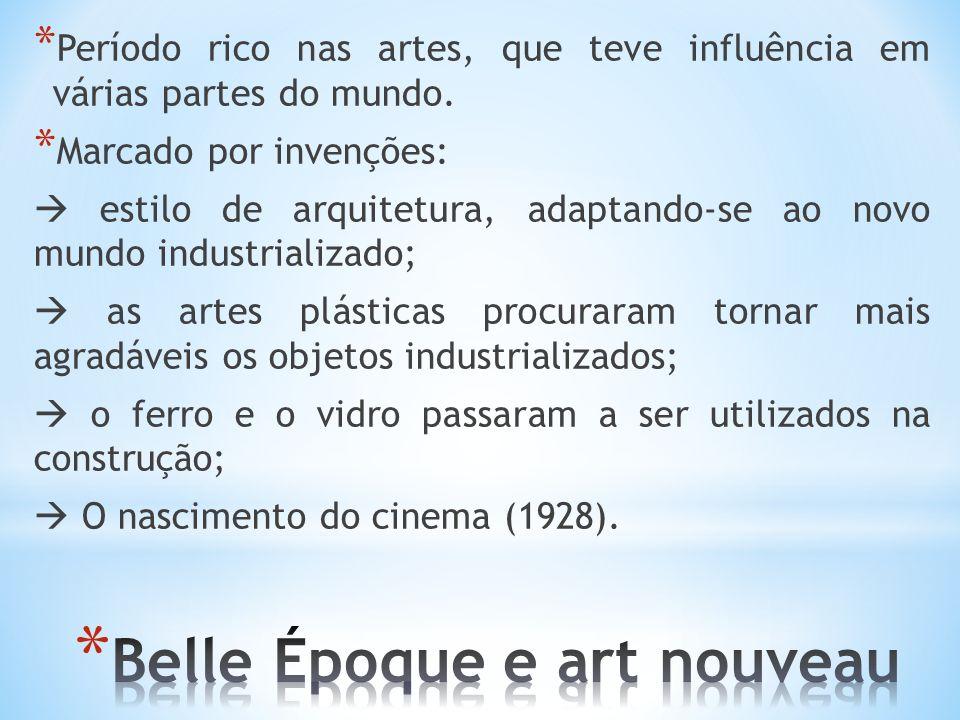 * Período rico nas artes, que teve influência em várias partes do mundo. * Marcado por invenções: estilo de arquitetura, adaptando-se ao novo mundo in