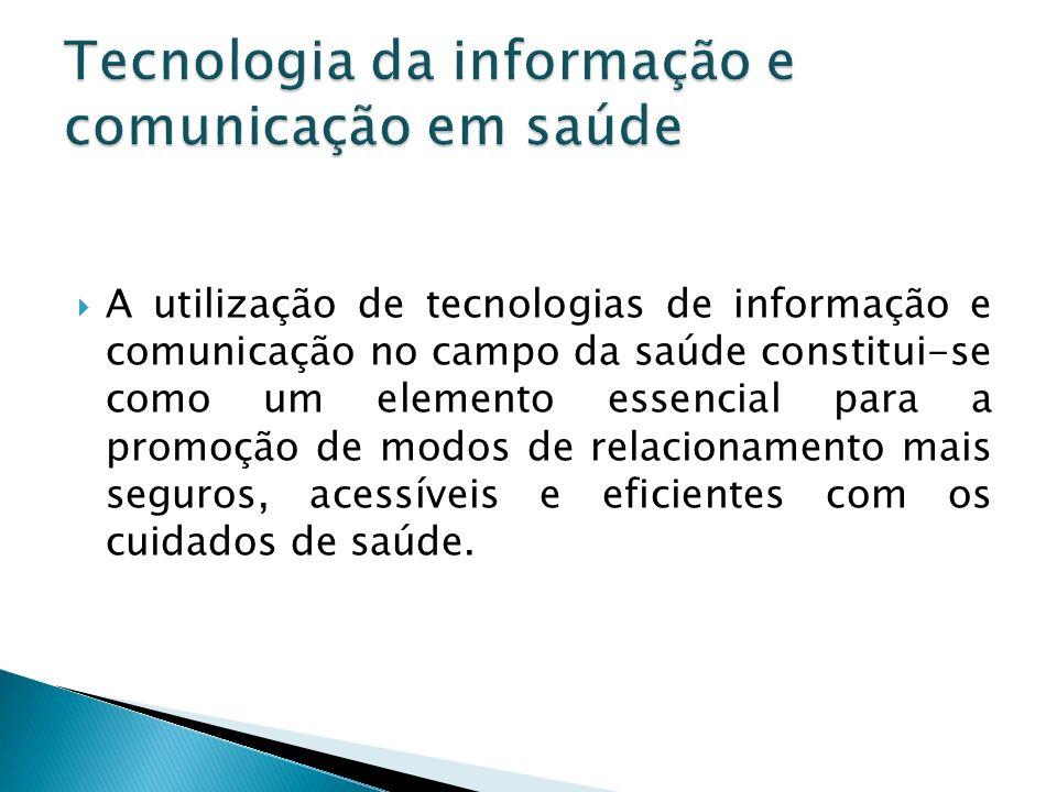 Alguns elementos da TCI usados na eficácia da comunicação: Tablets Monitores touch screen Identificação biométrica Vídeo conferencia Vídeo monitoramento Certificações digitais Monitoramento em tempo real