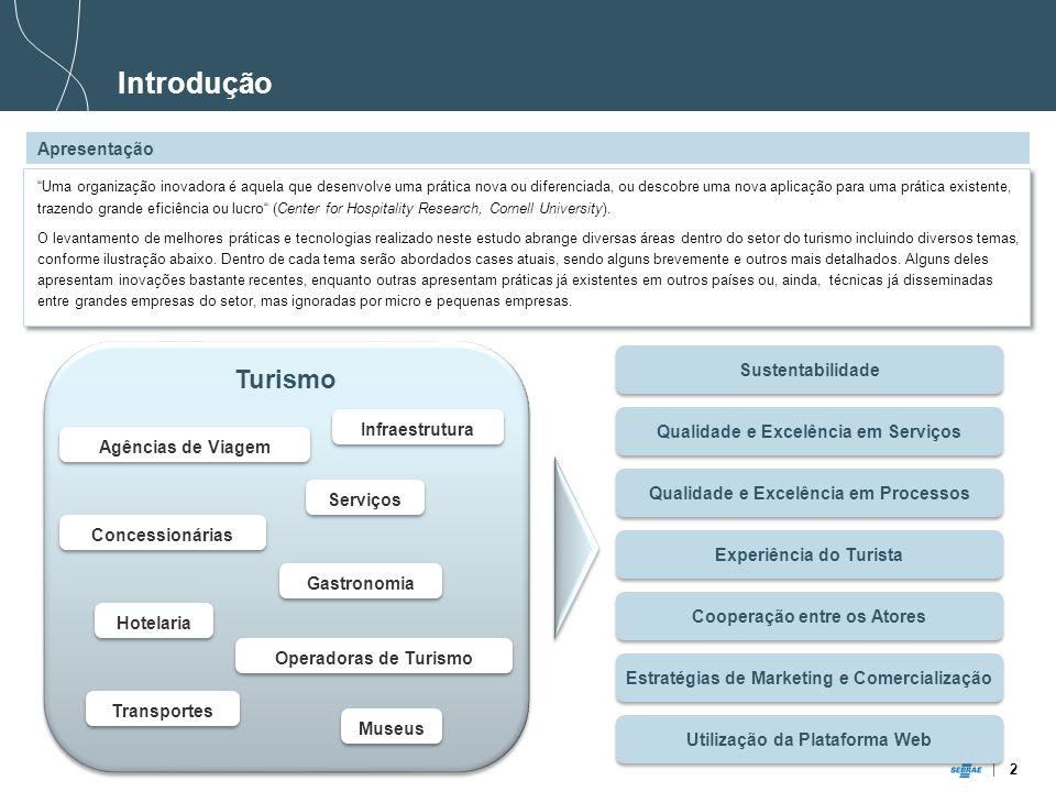 2 Turismo Sustentabilidade Experiência do Turista Cooperação entre os Atores Estratégias de Marketing e Comercialização Utilização da Plataforma Web Q