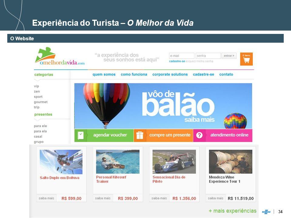 34 Experiência do Turista – O Melhor da Vida O Website