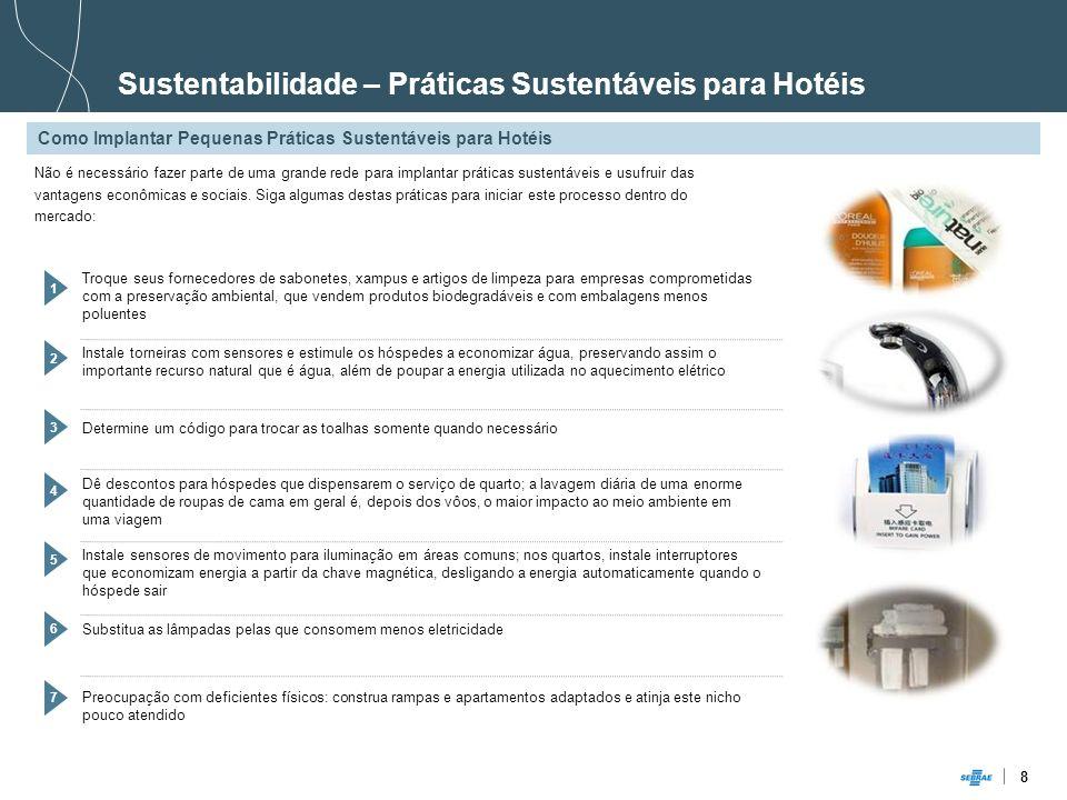 8 Sustentabilidade – Práticas Sustentáveis para Hotéis Como Implantar Pequenas Práticas Sustentáveis para Hotéis Não é necessário fazer parte de uma g