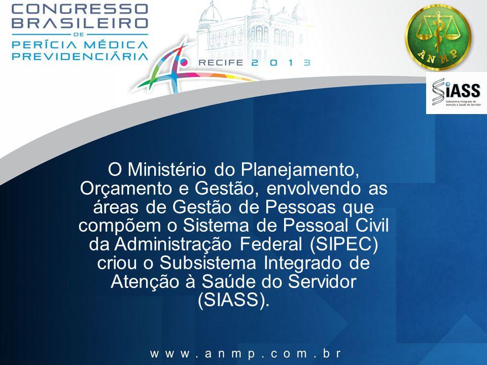 O Ministério do Planejamento, Orçamento e Gestão, envolvendo as áreas de Gestão de Pessoas que compõem o Sistema de Pessoal Civil da Administração Fed