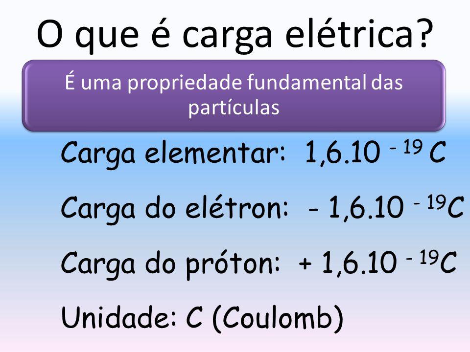 O que é carga elétrica.