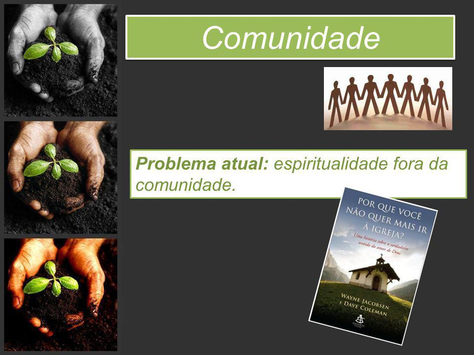 Comunidade Problema atual: espiritualidade fora da comunidade.
