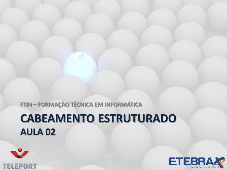 CABEAMENTO ESTRUTURADO AULA 02 FTIN – FORMAÇÃO TÉCNICA EM INFORMÁTICA