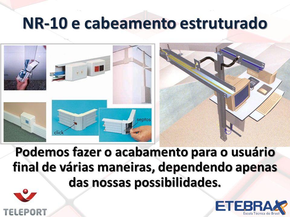 NR-10 e cabeamento estruturado Podemos fazer o acabamento para o usuário final de várias maneiras, dependendo apenas das nossas possibilidades.