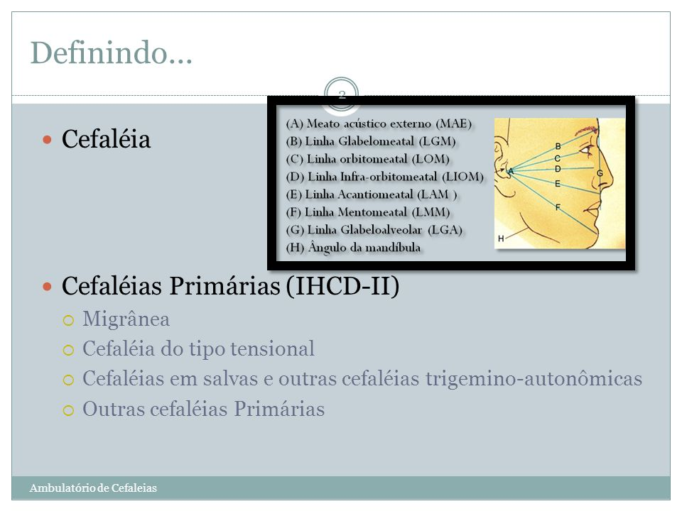 2. Cefaleias Tensionais Ambulatório de Cefaleias 13