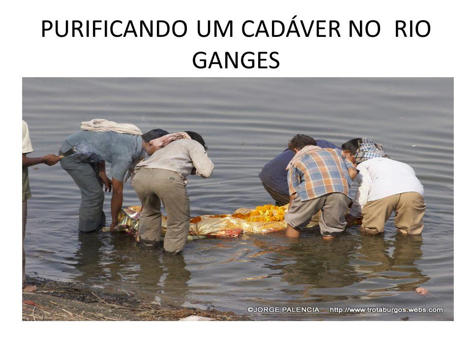 PURIFICANDO UM CADÁVER NO RIO GANGES