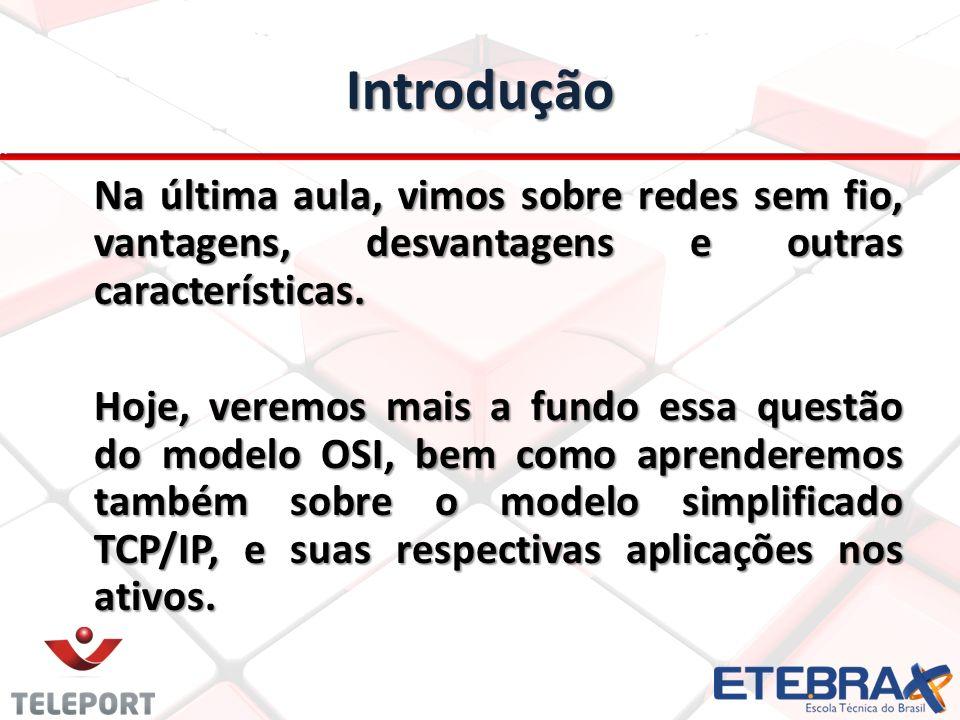 Modelo OSI e TCP/IP O que é o modelo de camadas OSI.
