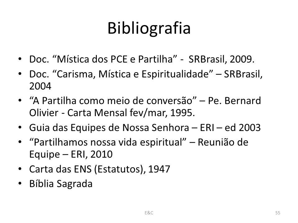 Bibliografia Doc.Mística dos PCE e Partilha - SRBrasil, 2009.