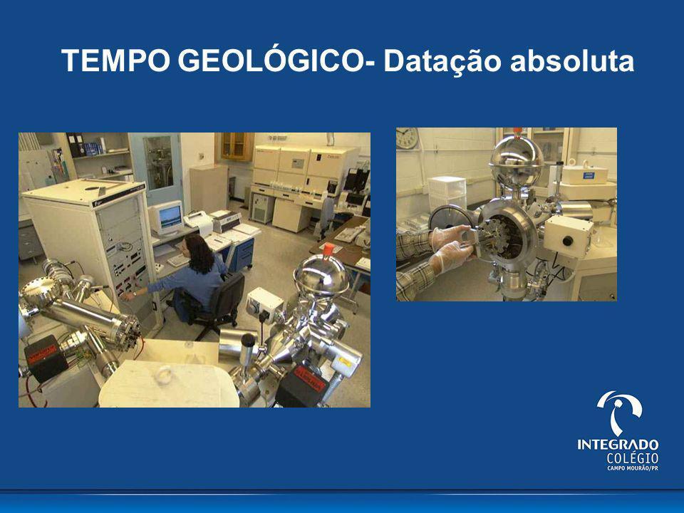 TEMPO GEOLÓGICO- Datação absoluta