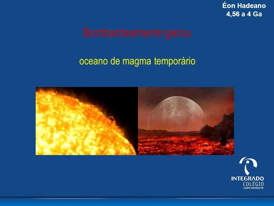 Bombardeamento gerou oceano de magma temporário Éon Hadeano 4,56 a 4 Ga