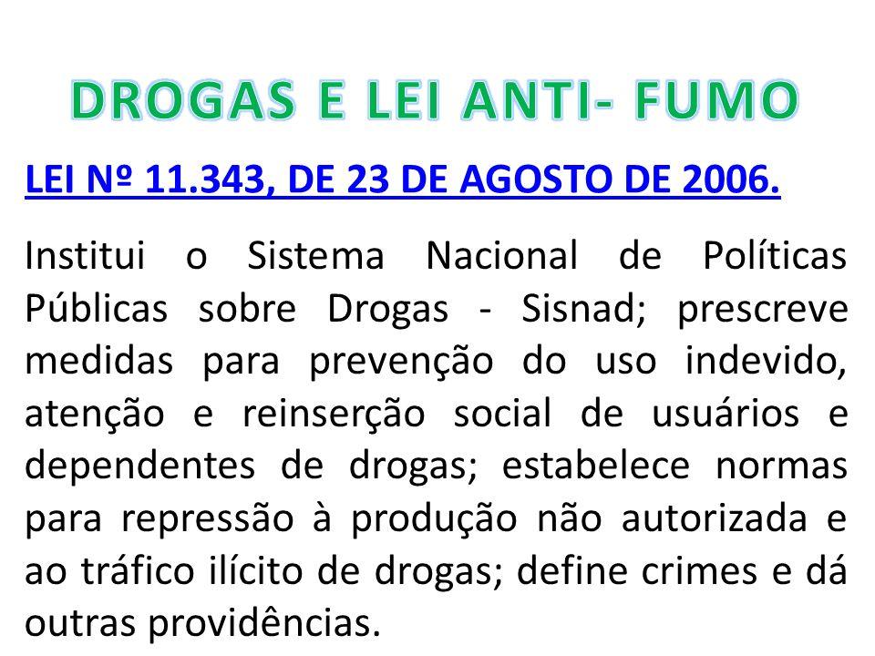 LEI Nº 11.343, DE 23 DE AGOSTO DE 2006.