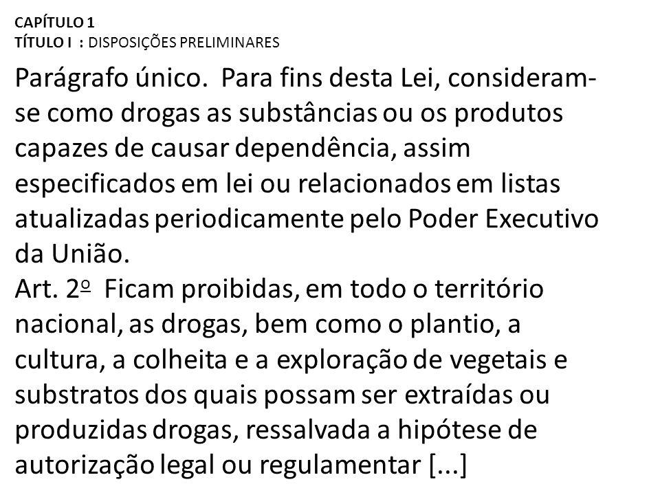 CAPÍTULO III DOS CRIMES E DAS PENAS I - advertência sobre os efeitos das drogas; II - prestação de serviços à comunidade; III - medida educativa de comparecimento a programa ou curso educativo.