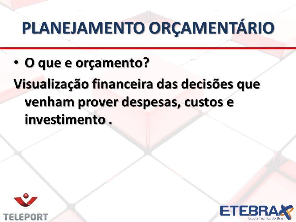 PLANEJAMENTO ORÇAMENTÁRIO O que é Planejamento Orçamentário.