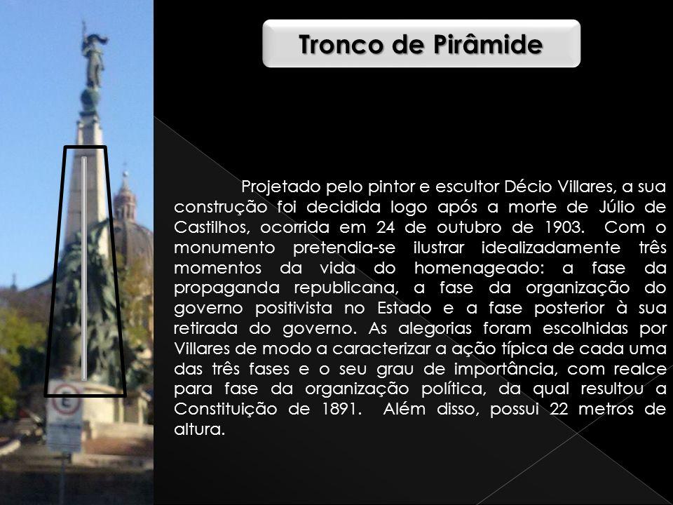 Projetado pelo pintor e escultor Décio Villares, a sua construção foi decidida logo após a morte de Júlio de Castilhos, ocorrida em 24 de outubro de 1