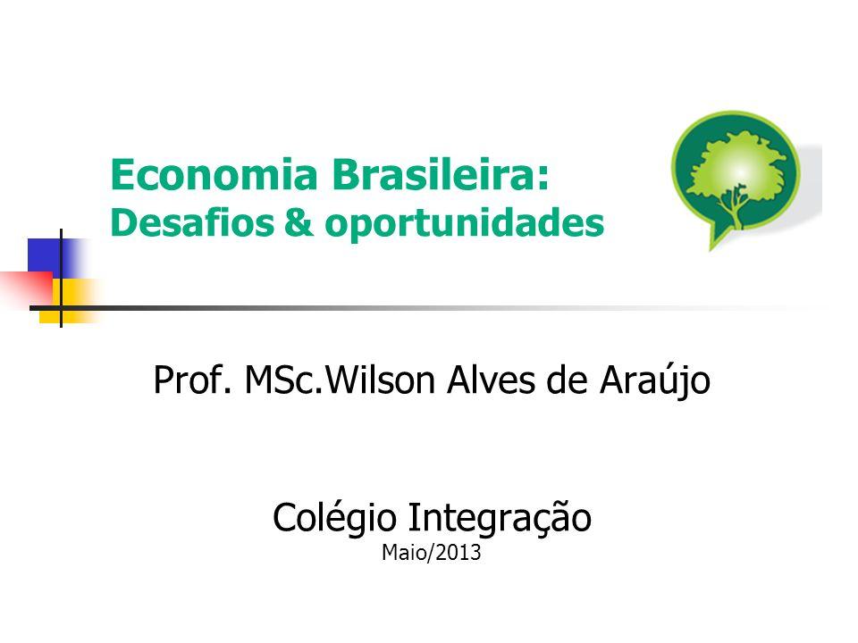 Economia Brasileira: Desafios & oportunidades Prof. MSc.Wilson Alves de Araújo Colégio Integração Maio/2013