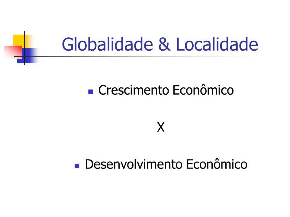 Globalidade & Localidade Crescimento Econômico X Desenvolvimento Econômico