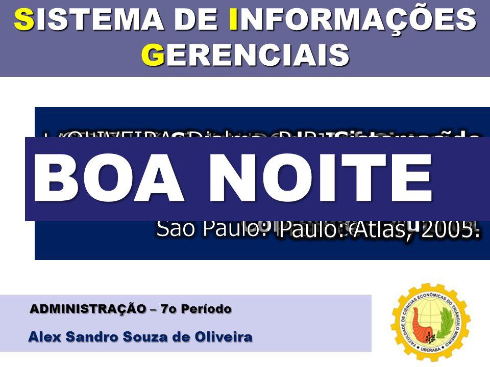 SISTEMA DE INFORMAÇÕES GERENCIAIS Alex Sandro Souza de Oliveira ADMINISTRAÇÃO – 7o Período BOA NOITE