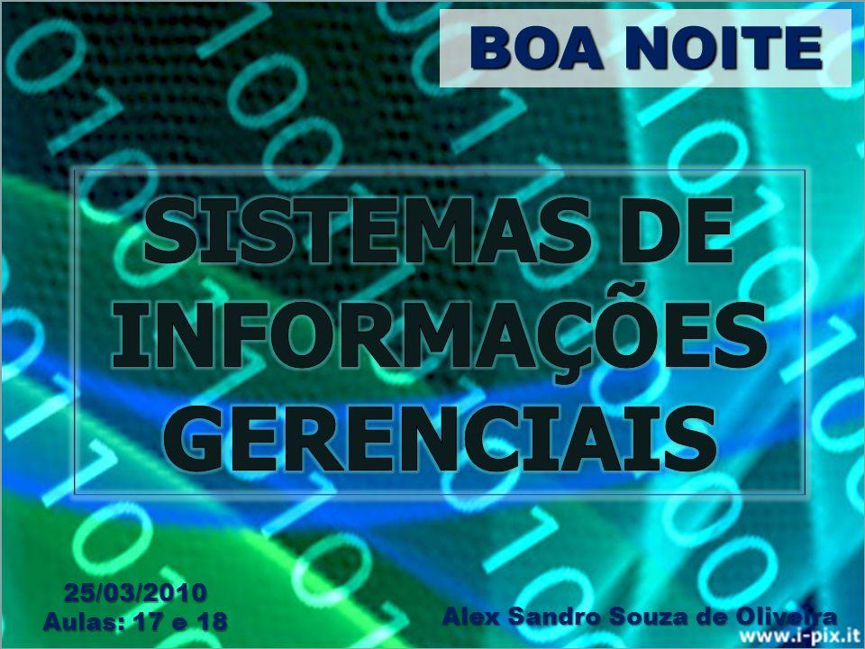 BOA NOITE Alex Sandro Souza de Oliveira 25/03/2010 Aulas: 17 e 18