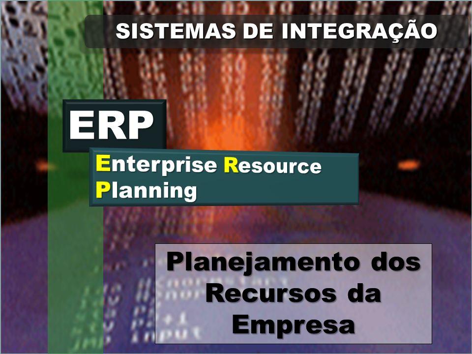 MRP II Hoje em dia é cada vez maior o número de autores que chamam o MRP II de ERP, sigla de Enterprise Resource Planning, ou seja, planejamento dos recursos da empresa.