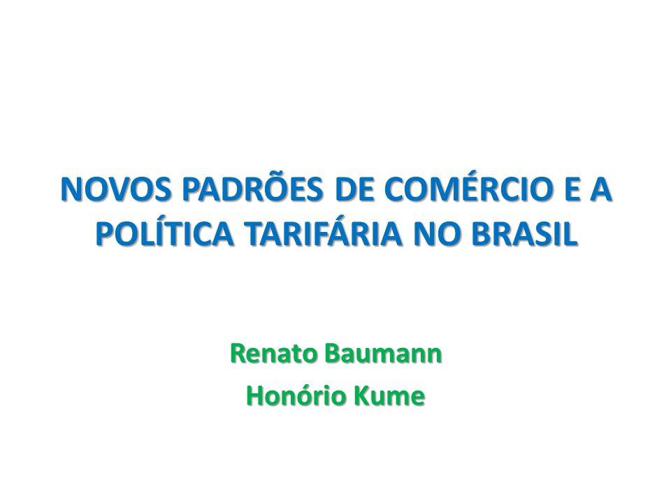 Novo Cenário Internacional para Manufaturados 1 – comércio intra-setorial Brasil em 2010: 18% do comércio total, 33% do comércio com a América do Sul 2 – comércio intra-firma Brasil em 2005: 1/3 das exportações; 1/3 das importações