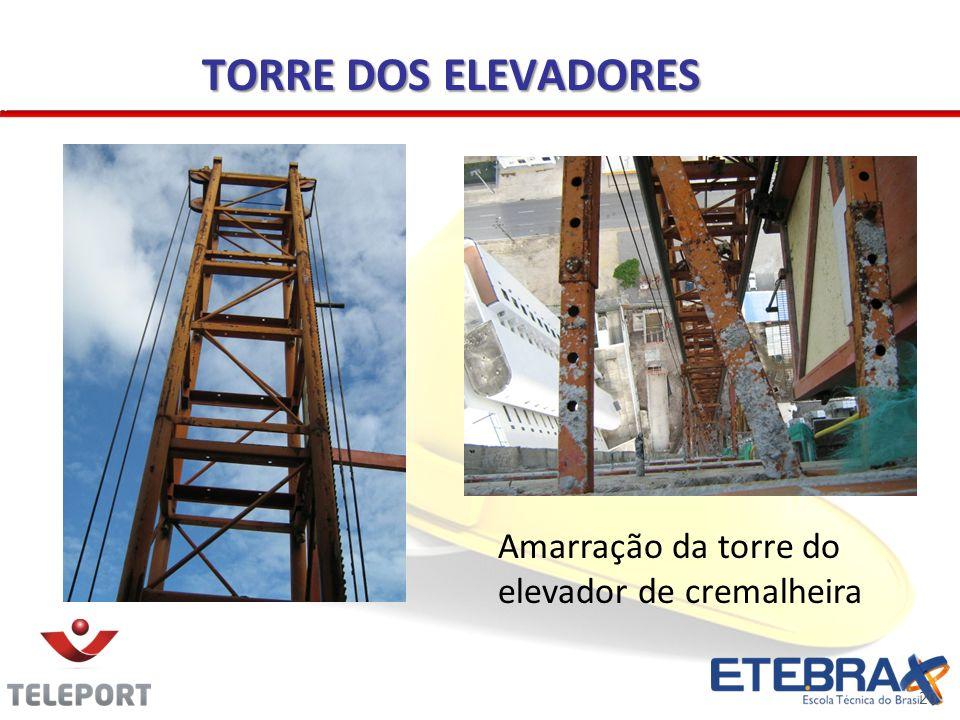 20 TORRE DOS ELEVADORES Amarração da torre do elevador de cremalheira