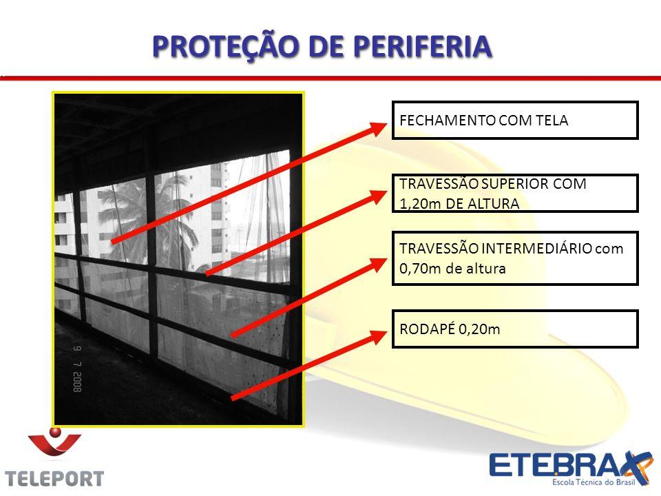 Plataforma para trabalhos em alturas elevadas por estrutura provisória ou dispositivo de sustentação.