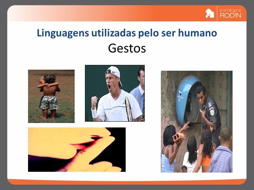 Linguagem É a capacidade, a aptidão humana para o exercício da comunicação,processo através do qual se produz a troca de informações. Comunicar = torn