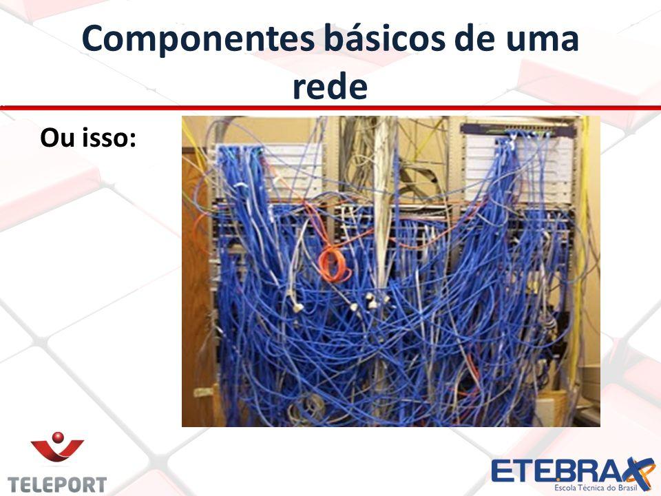 Componentes básicos de uma rede É por isso que em uma grande rede precisamos trabalhar com padrões e segui-los a risca.