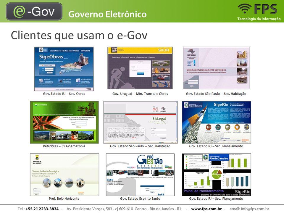 Clientes que usam o e-Gov