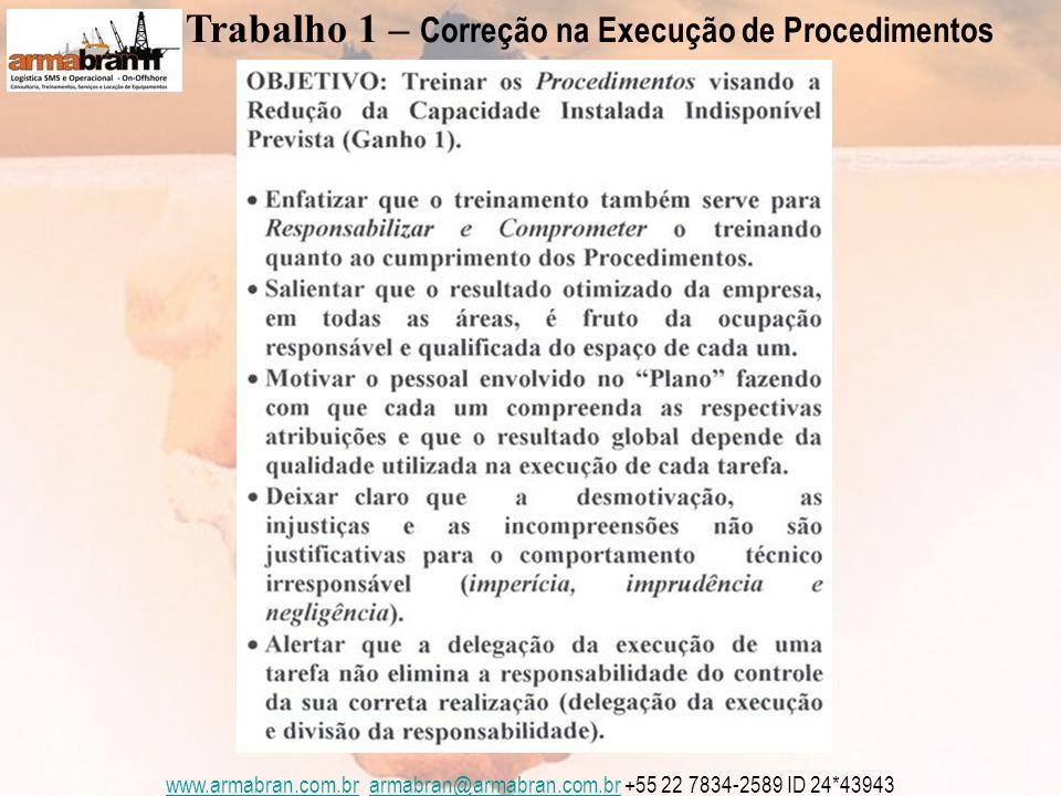 www.armabran.com.brwww.armabran.com.br armabran@armabran.com.br +55 22 7834-2589 ID 24*43943armabran@armabran.com.br Trabalho 1 – Correção na Execução de Procedimentos