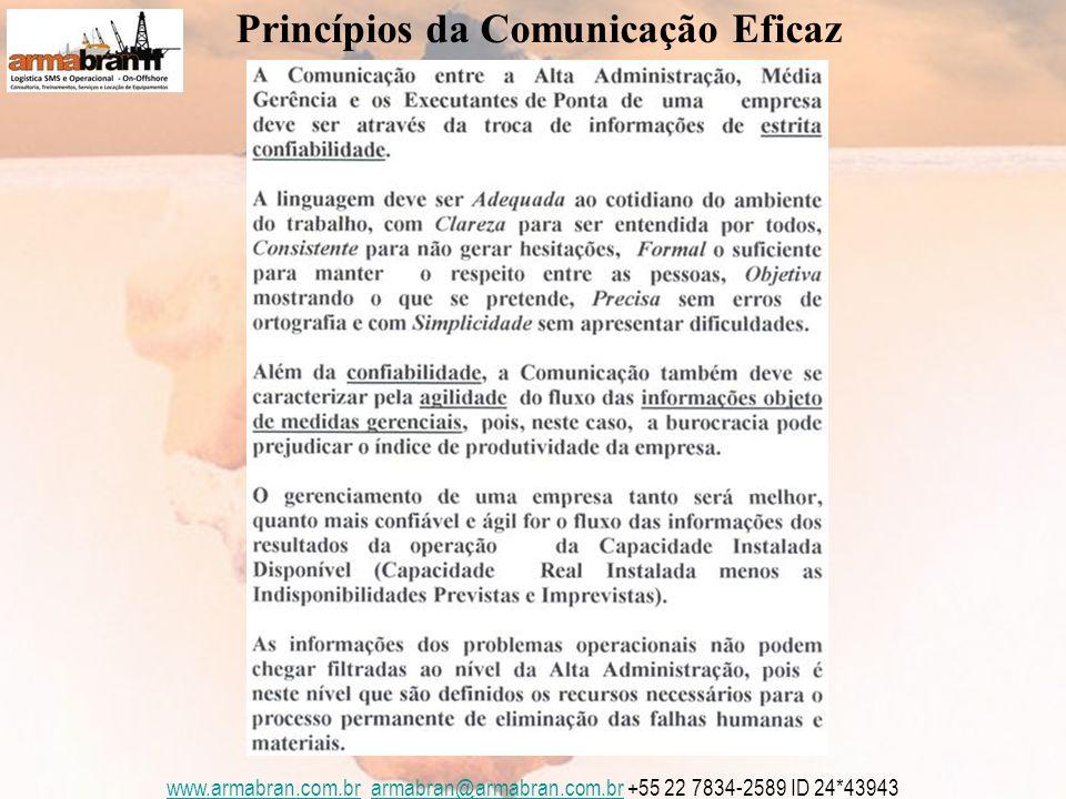 www.armabran.com.brwww.armabran.com.br armabran@armabran.com.br +55 22 7834-2589 ID 24*43943armabran@armabran.com.br Princípios da Comunicação Eficaz