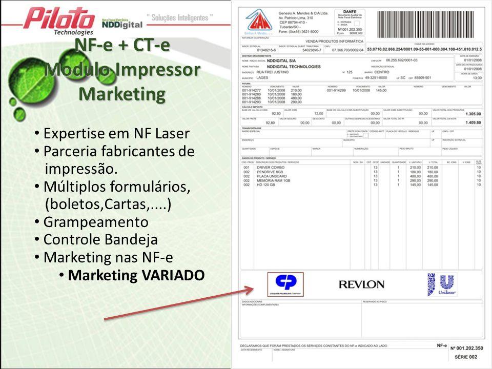 Expertise em NF Laser Parceria fabricantes de impressão. Múltiplos formulários, (boletos,Cartas,....) Grampeamento Controle Bandeja Marketing nas NF-e