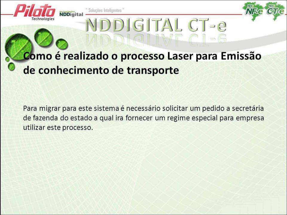 Como é realizado o processo Laser para Emissão de conhecimento de transporte Para migrar para este sistema é necessário solicitar um pedido a secretár