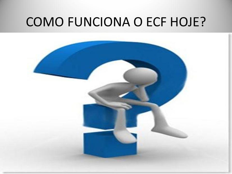 COMO FUNCIONA O ECF HOJE?