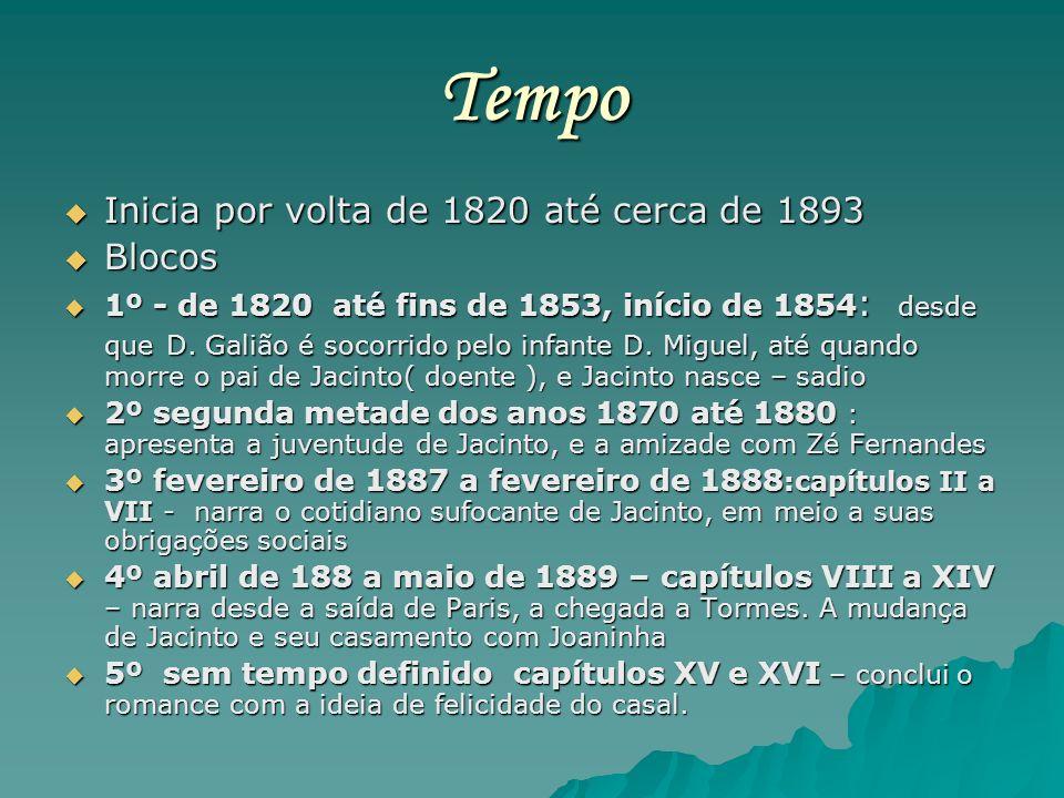 Tempo Inicia por volta de 1820 até cerca de 1893 Inicia por volta de 1820 até cerca de 1893 Blocos Blocos 1º - de 1820 até fins de 1853, início de 185