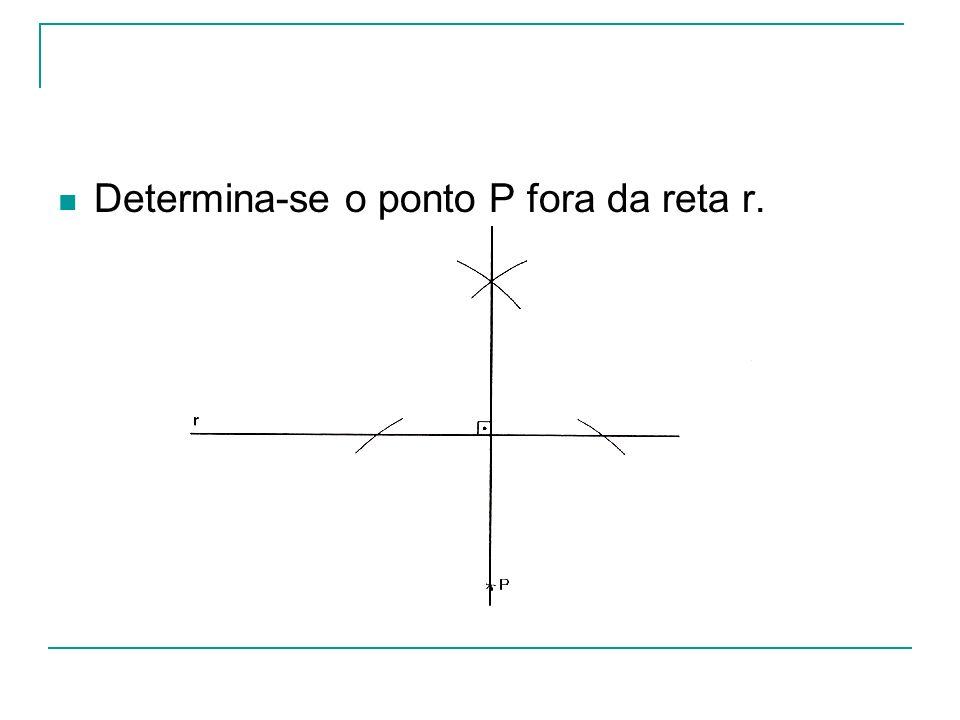 Determina-se o ponto P fora da reta r.