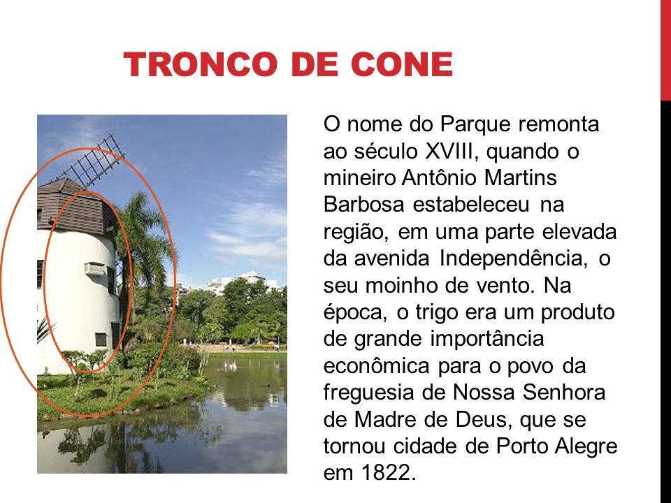 TRONCO DE CONE O nome do Parque remonta ao século XVIII, quando o mineiro Antônio Martins Barbosa estabeleceu na região, em uma parte elevada da aveni