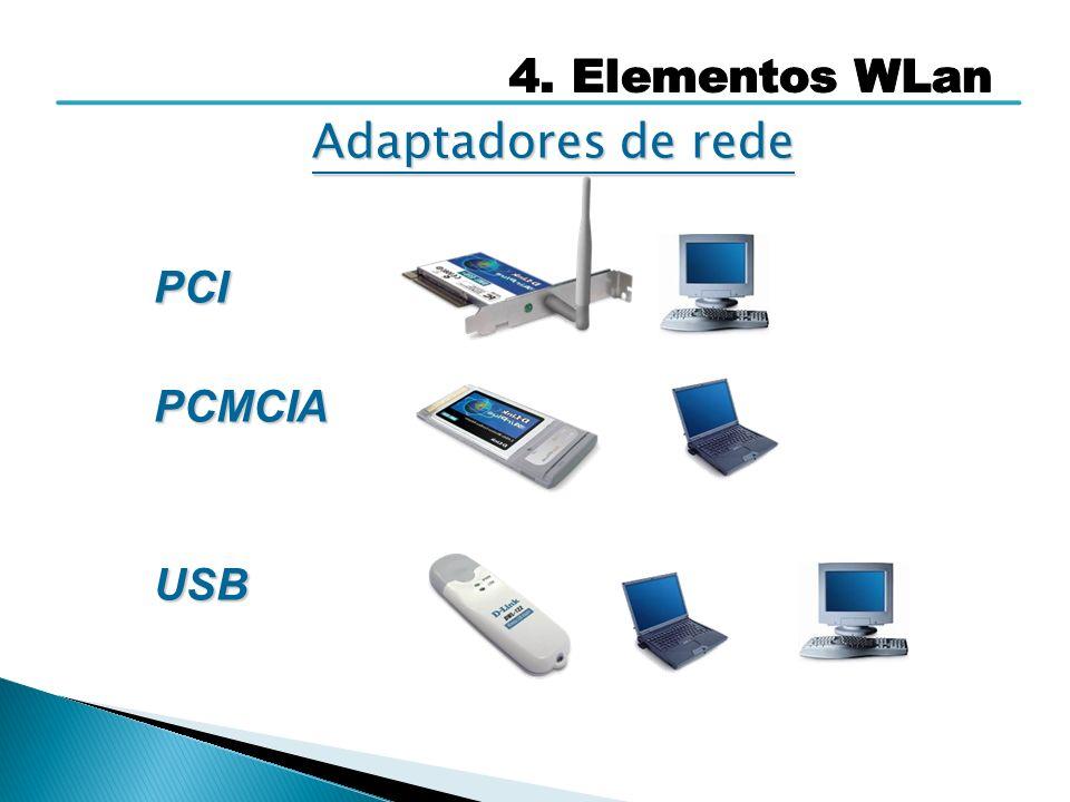 PCIPCMCIAUSB Adaptadores de rede