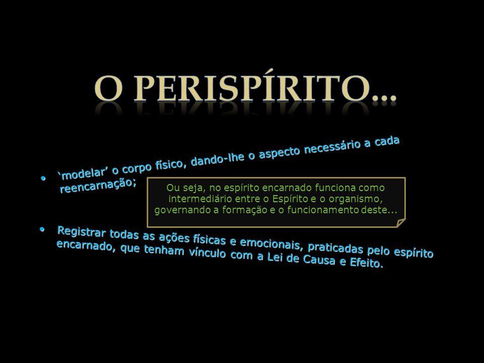 O perispírito é extraído do Fluído Universal de cada Globo, razão por que não é idêntico em todos os mundos. Passando de um mundo a outro, o Espírito