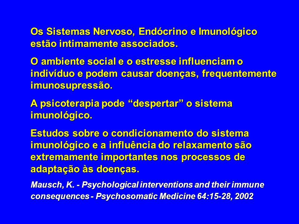 Os Sistemas Nervoso, Endócrino e Imunológico estão intimamente associados. O ambiente social e o estresse influenciam o indivíduo e podem causar doenç