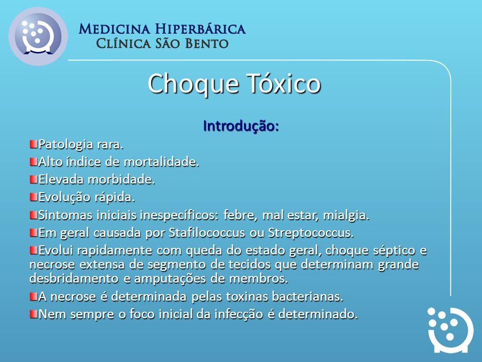 Conclusão Choque tóxico é patologia muito agressiva.