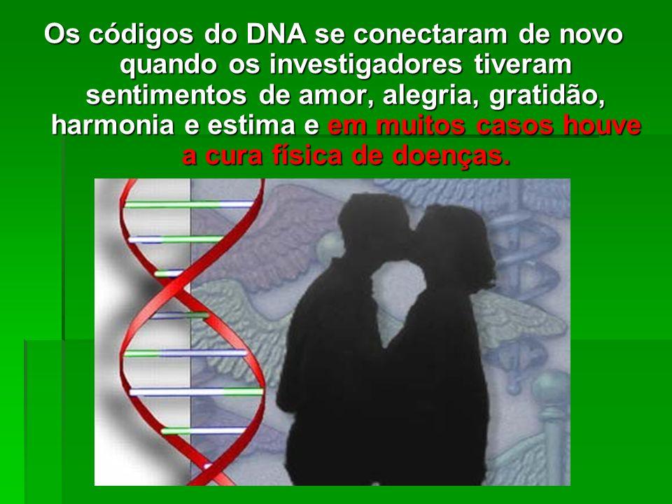 2. Quando os investigadores SENTIRAM raiva, medo ou stress, o DNA respondeu SE ENCOLHENDO. 2. Quando os investigadores SENTIRAM raiva, medo ou stress,