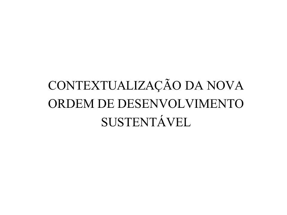 CONTEXTUALIZAÇÃO DA NOVA ORDEM DE DESENVOLVIMENTO SUSTENTÁVEL