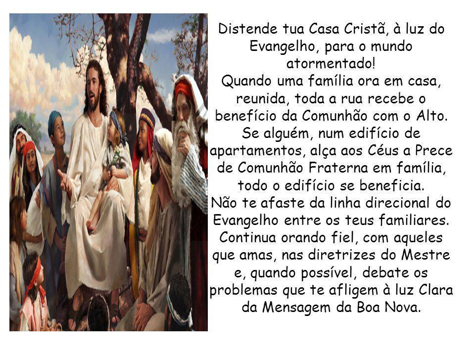 Jesus Contigo Dedica uma das sete noites da semana ao Culto do Evangelho no Lar, a fim de que Jesus possa pernoitar em tua casa.