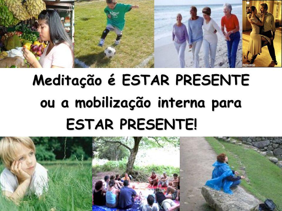 Meditação é ESTAR PRESENTE ou a mobilização interna para ESTAR PRESENTE!