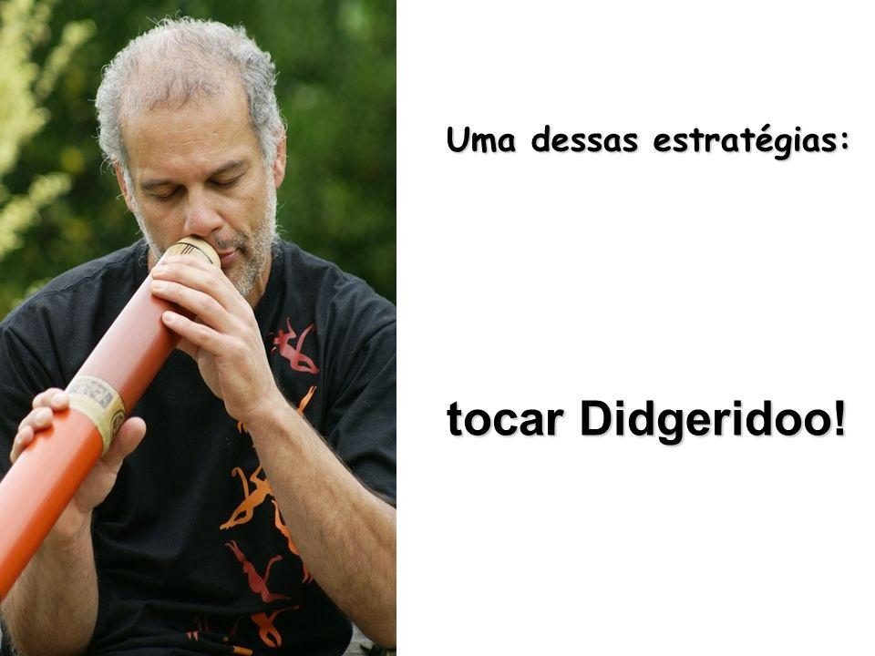 Uma dessas estratégias: tocar Didgeridoo!