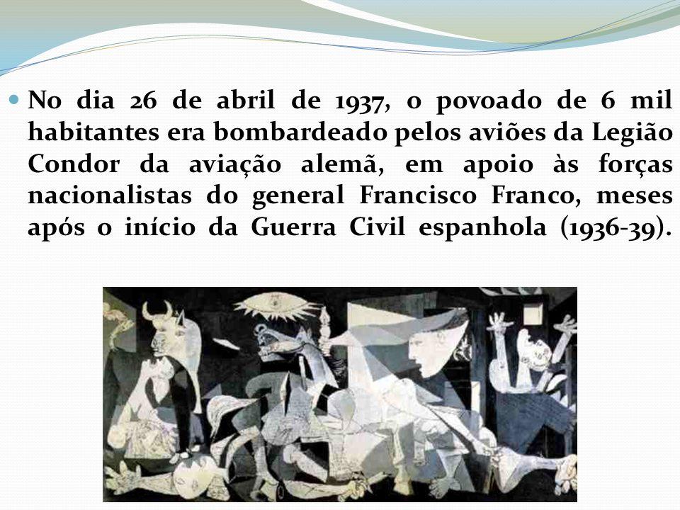 No dia 26 de abril de 1937, o povoado de 6 mil habitantes era bombardeado pelos aviões da Legião Condor da aviação alemã, em apoio às forças nacionalistas do general Francisco Franco, meses após o início da Guerra Civil espanhola (1936-39).