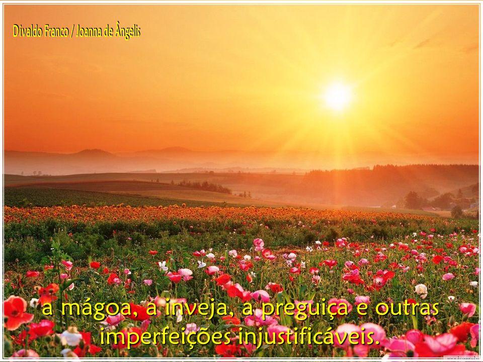 Permeia-te da divina luz e clareia os recantos escuros da tua vida, onde se alojam o ciúme,